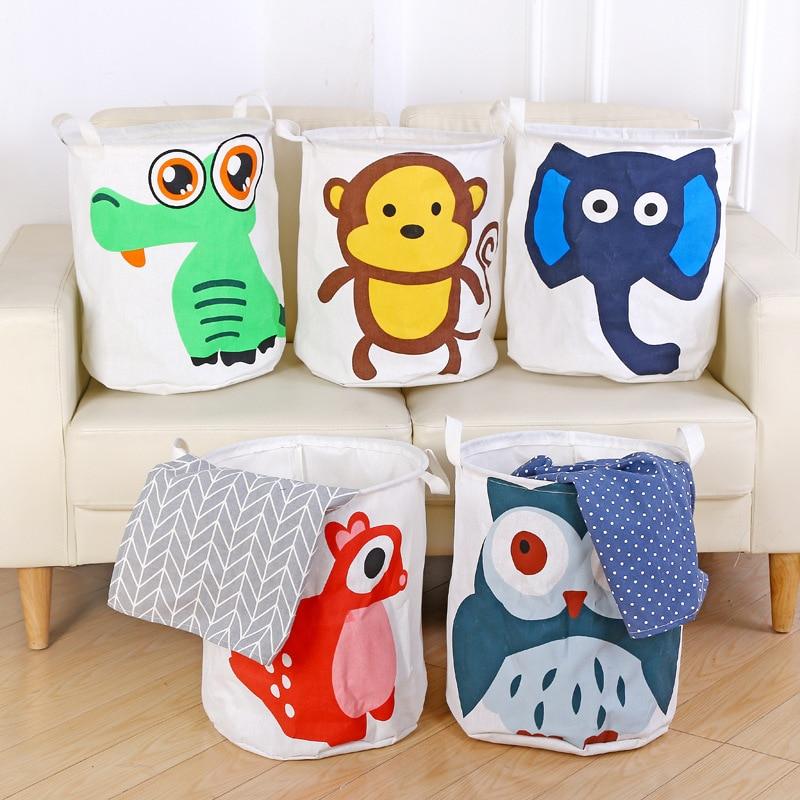 Cute Animal Collapsible Toy Storage Organizer Folding: Cute Animals Waterproof Nursery Hamper Laundry Basket