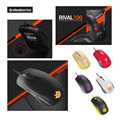 A Estrenar SteelSeries Rival 100 Wired Optical Gaming Mouse Ratones USB 4000 DPI Ratón Con Prism RGB Iluminación Para LOL CS