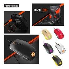 Marke Neue SteelSeries Rivalen 100 Gaming Maus Mäuse USB Verdrahtete Optische 4000 DPI Maus Mit Prism RGB Beleuchtung Für LOL CS