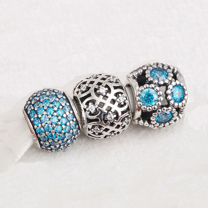Fits Pandora Charms Bracelet and Necklace 925 Sterling Silver charm sets sparkling balls Charm Jewelry DIY design Drop Shipping