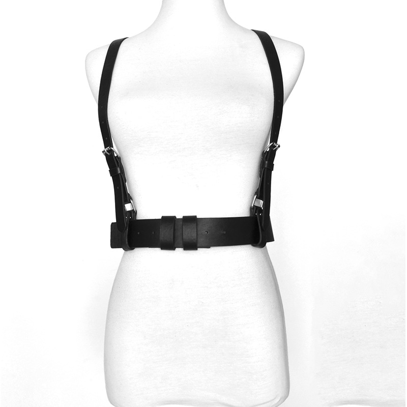 2020 Sexy Punk PU Leather Belts For Women Brown Black Slim Body Bondage Cage Sculpting Harness Waist Belt Straps Suspenders Belt