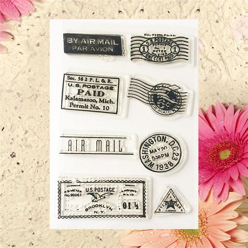 1PC Posting Postmark Transparent Stamp Cling Sheet DIY Seal Craft Scrapbook/Card Making/Kids Christmas Fun Decoration Supplies