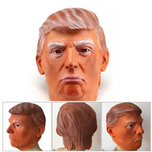 1PC Donald Trump Mask Billionaire Presidential Costume Latex Cospaly Mask For Halloween Party Decorations Ornament