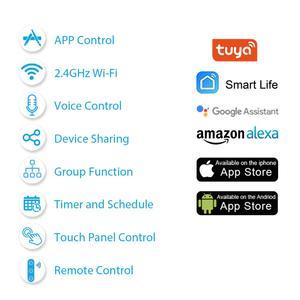 Image 3 - Tuya חכם חיים האירופי WiFi רולר תריס וילון מתג חשמלי תריסים ממונע עם שלט רחוק אלחוטי מתג Google בית alexa הד קול בקרת קיר מגע מתג חכם בית
