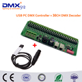 Free shipping 30 channel Easy DMX LED controller;dmx decoder& driver and USB DMX PC Controller Could be loaded 30CH offline