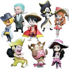 Anime One Piece Tony Tony Chopper Luffy Roronoa Zoro Nami Usopp Sanji Nico Robin Franky Brook Encaixotado PVC Action Figure modelo Boneca(China)