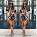 New Hot Womens Short Sleeve Printed Shirt Mini T-Shirts Floral Summer Casual Tops Tees