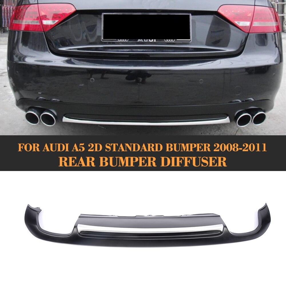 Matt black painted PU Rear Bumper Diffuser for Audi A5 Coupe Standard Only 2008-2011 Non-Sline цены