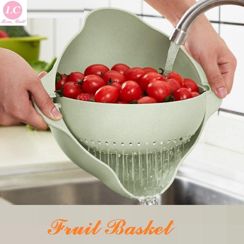 Fruit & Vegetable Tool Basket For Easy Washing Leachate Basket Kitchen Tool Fruit Basket Basin