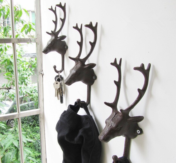 Decorative Wall Hangers deer cast iron reviews - online shopping deer cast iron reviews on