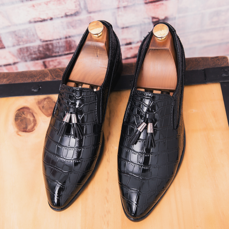 Shoes Formal Shoes Fashion Snake Skin Leather Shoes Men Luxury Brand Designer Fish Dress Male Footwear Wedding Italian Brogue Oxford Shoes For Men