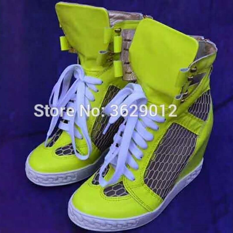 Moda color Transpirable Señoras 1 Lynskey Malla 3 Zapatos 2 color Tacones La De Encaje Recorte Cuñas Aumento Botines Plataforma Hasta Las Mujeres Altura Color PRRHfEq