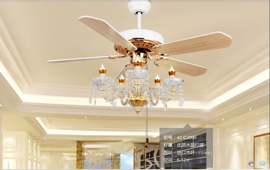 Crystal Fan Lamp Ceiling Fan Light Fan Ceiling Lights Restaurant With Candle Light Continental