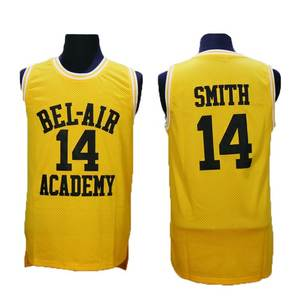 Carlton Fresh Prince of Bel-Air Will Smith 14 Bel-Air Academy Basketball  Jersey aadcf3c73