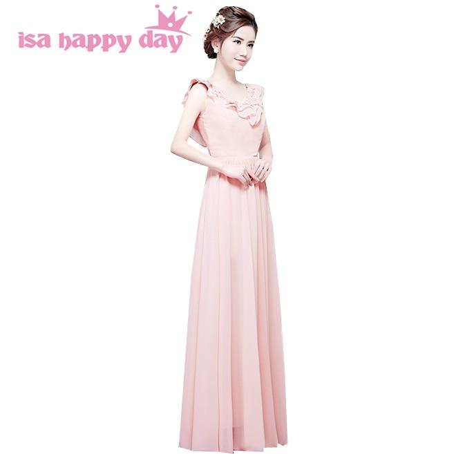 bcae922fea Vestidos formales vestido de renda szyfonowa festa długa suknia party  wieczór elegancki formalna v neck suknie różowy suknie H3568