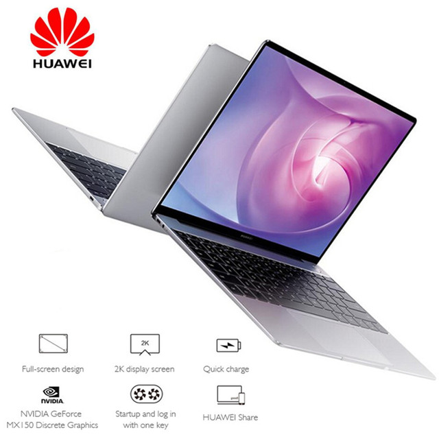 "HUAWEI MateBook Laptop 13.0"" Windows 10 Home Version Intel Core i5-8265U Quad Core 1.6GHz 8GB RAM 512GB SSD Fingerprint Sensor"