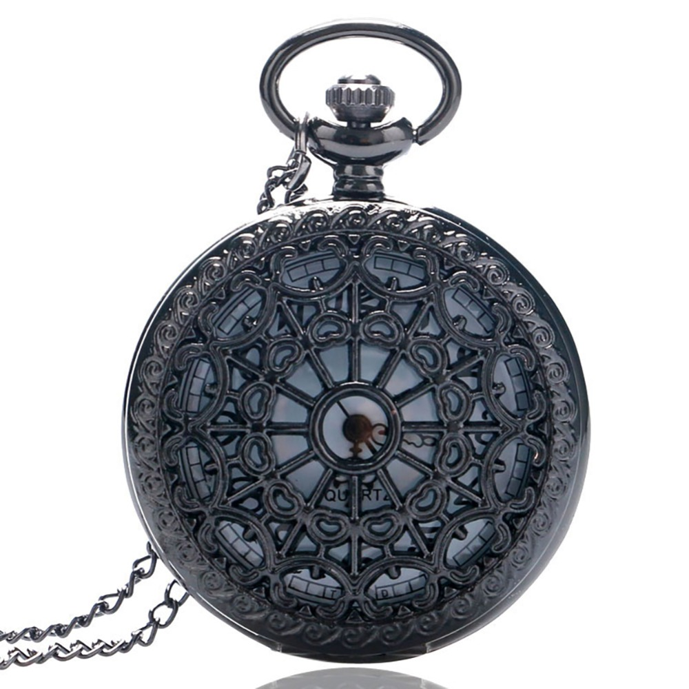Vintage Bronze Web Spider Quartz Pocket Watch Chain Antique Necklace Pendant Women Men Fob Watches Fashion Clock Gift
