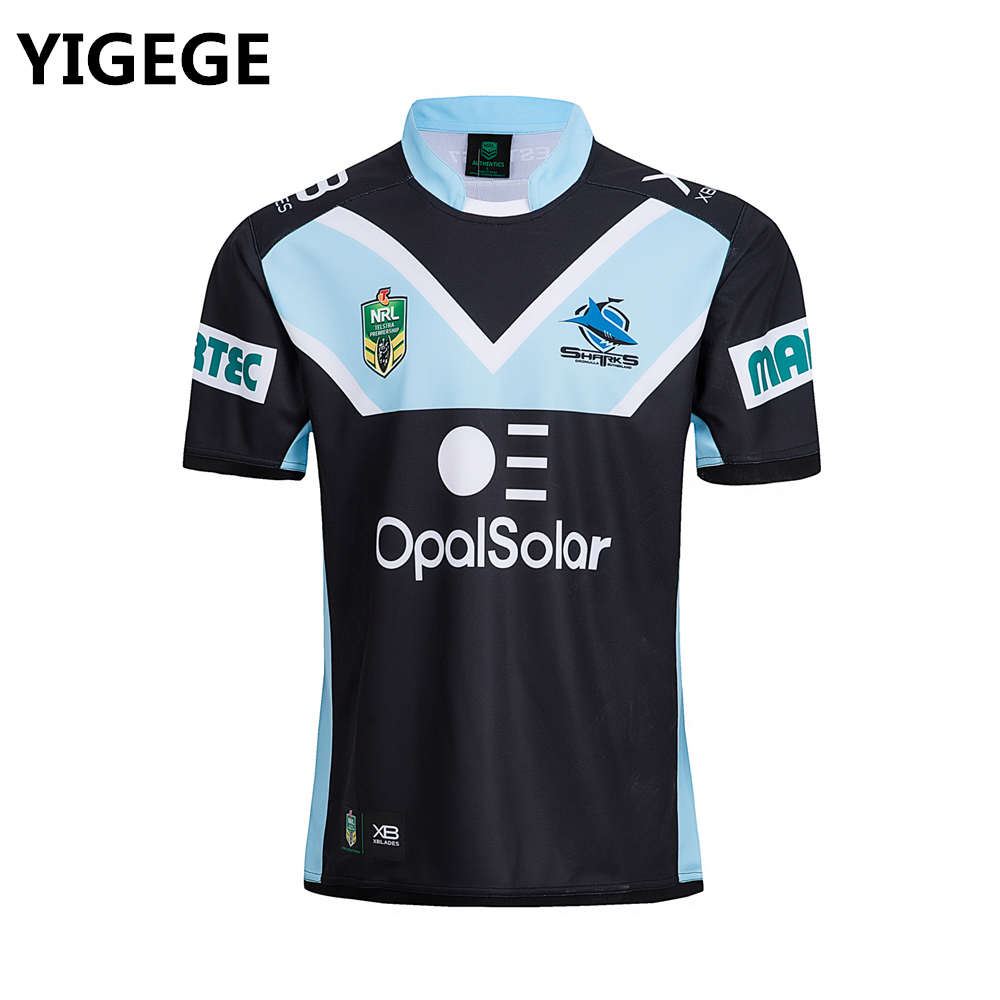 a66828d1470 Detail Feedback Questions about YIGEGE nrl Jersey 2018 CRONULLA SHARKS  rugby Jersey home away Rugby League shirt s 3xl on Aliexpress.com | alibaba  group