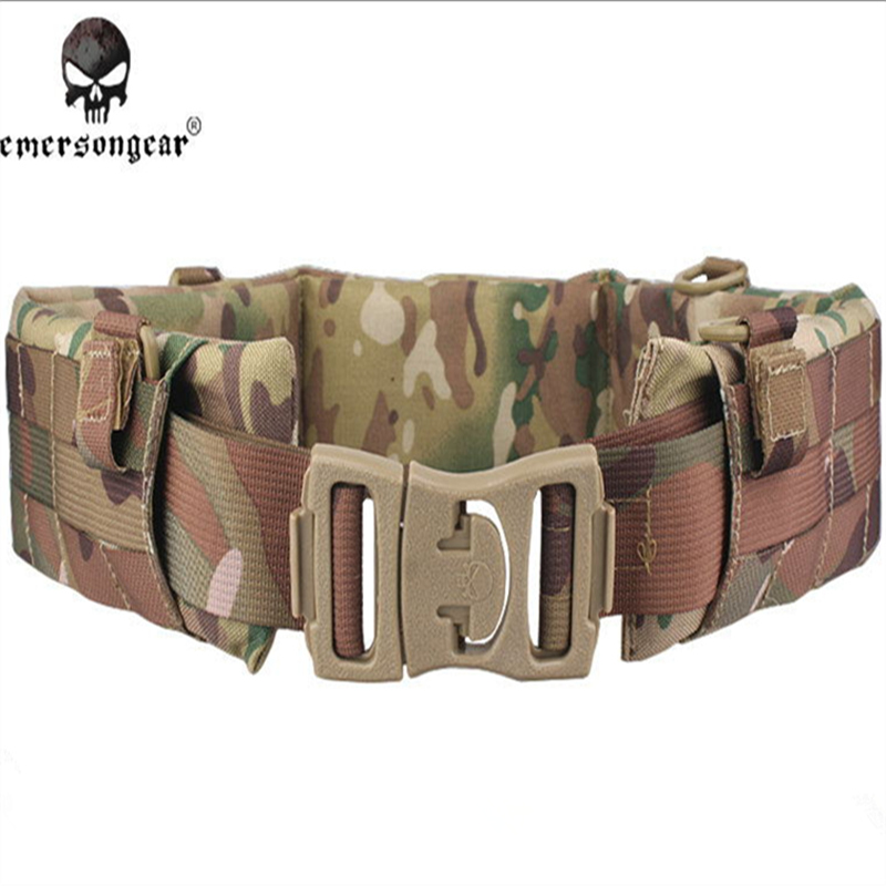 EMERSON MOLLE Padded Patrol Belt Men Airsoft Combat Military Army belt Multicam AT FG ATACS EM9153