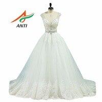 ANTI 2018 Robe De Mariage Princess Bling Bling Luxury Crystal Beading Ball Gown Wedding Dress Custom