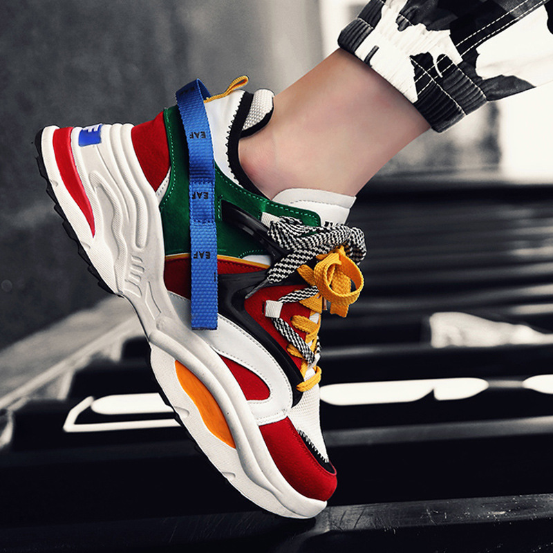 New Luxury Brand Men Sneakers Spring Autumn Work Shoes Non-slip Casual Shoes Outdoor Breathable Male Hip Hop Boots Drop Shipping Shoes