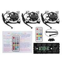 3pcs 12V 120mm Computer Case PC Cooling Fan RGB Adjustable LED Quiet IR Remote New Silent