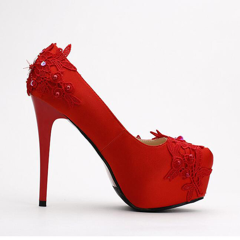 Popular Red Satin Heels-Buy Cheap Red Satin Heels lots from China ...