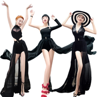 new fashion woman bar ds costumes sexy nightclubs singers car models costumes stage suits