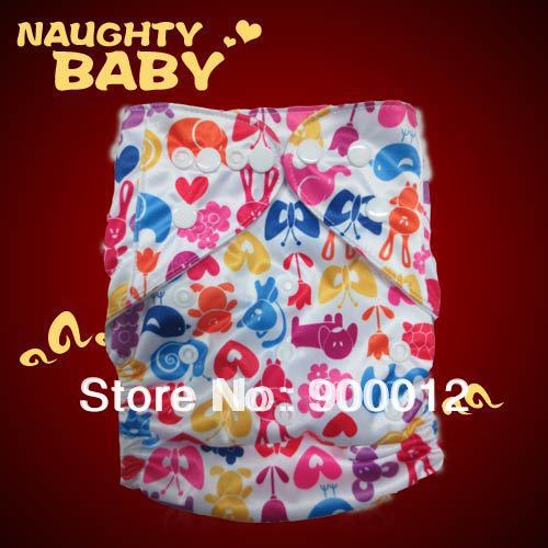 Naughtybaby Popular Baby Diapers Covers Baby Kids Leak proof Urine Trousers Cloth Diaper 50 diapers 100