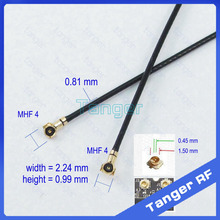 Tanger RF IPX IPEX MHF4 to MHF 4 IV plug right angle 0.81mm cable Pigtail Coaxial Jumper 4in 10cm Antenna Cable for Wifi Router