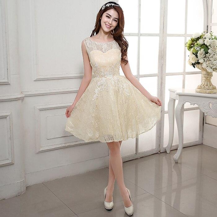 Corto Homecoming Dresses Vestidos De Formatura Champagne