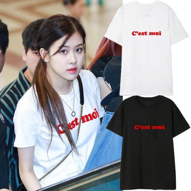 C'est Moi t-shirt BlackPink Rose tee shortsleeved Cest