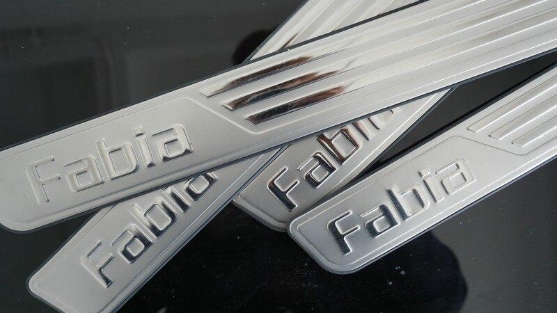 AOSRRUN автомобильные аксессуары нержавеющая сталь Накладка порога для Skoda Fabia 2009- 2GEN 3GEN