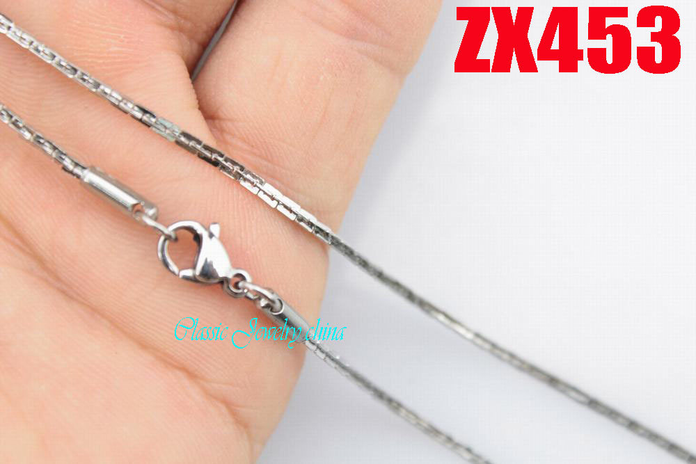 100 meters 1.5mm Boston chain stainless steel necklace fashion men's women jewelry chains ZX453