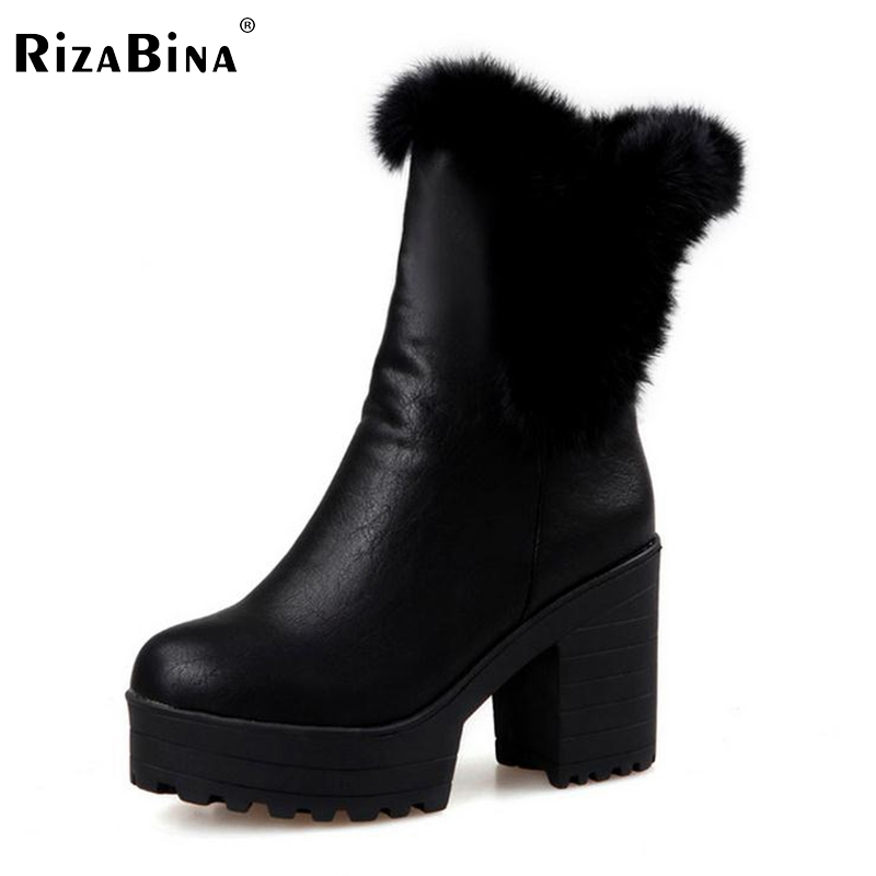 women high heel half short boots thickened fur warm winter plush mid calf snow boot woman botas footwear shoes P21993 size 34-43 coolcept size 35 40 russia winter warm thickened fur women flat half short ankle snow boots cotton winter footwear boot shoes