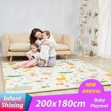 Детские блестящие 2 Толщина ребенка играть мат 200*180 см большой ребенок восхождение коврик экологичный EPE ковров Спальня одеяло