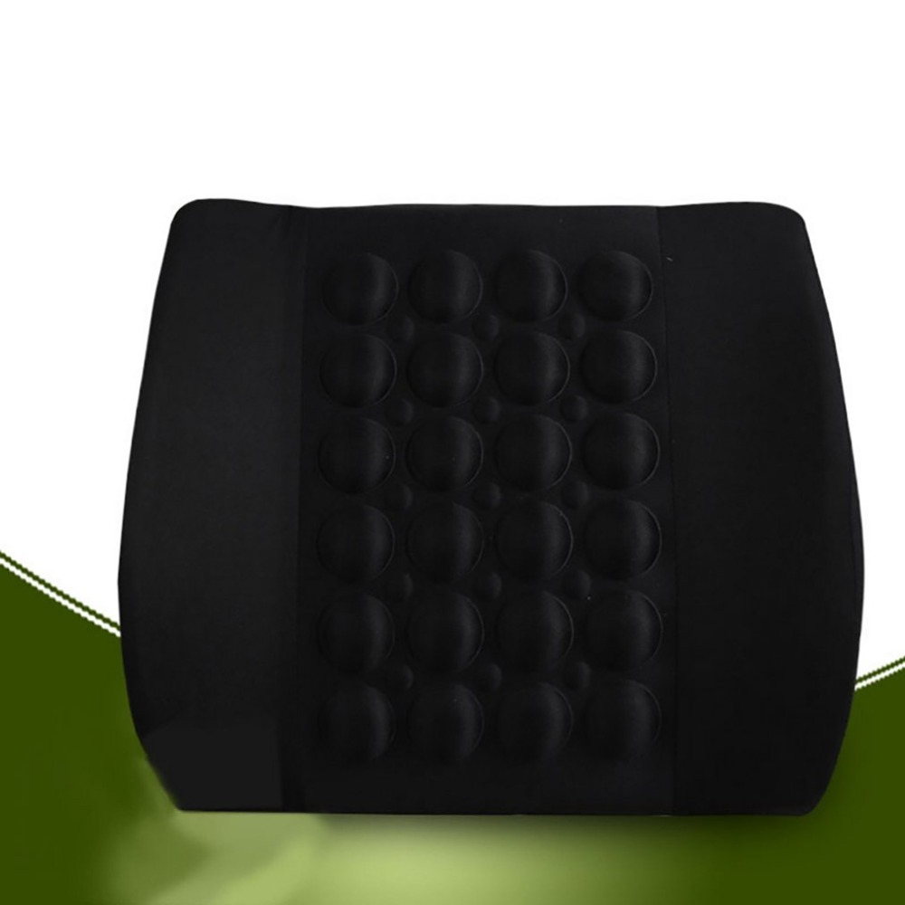 Car Lumbar Pillow with Massager to Support Waist Made with Cotton Fabric and Foam 7