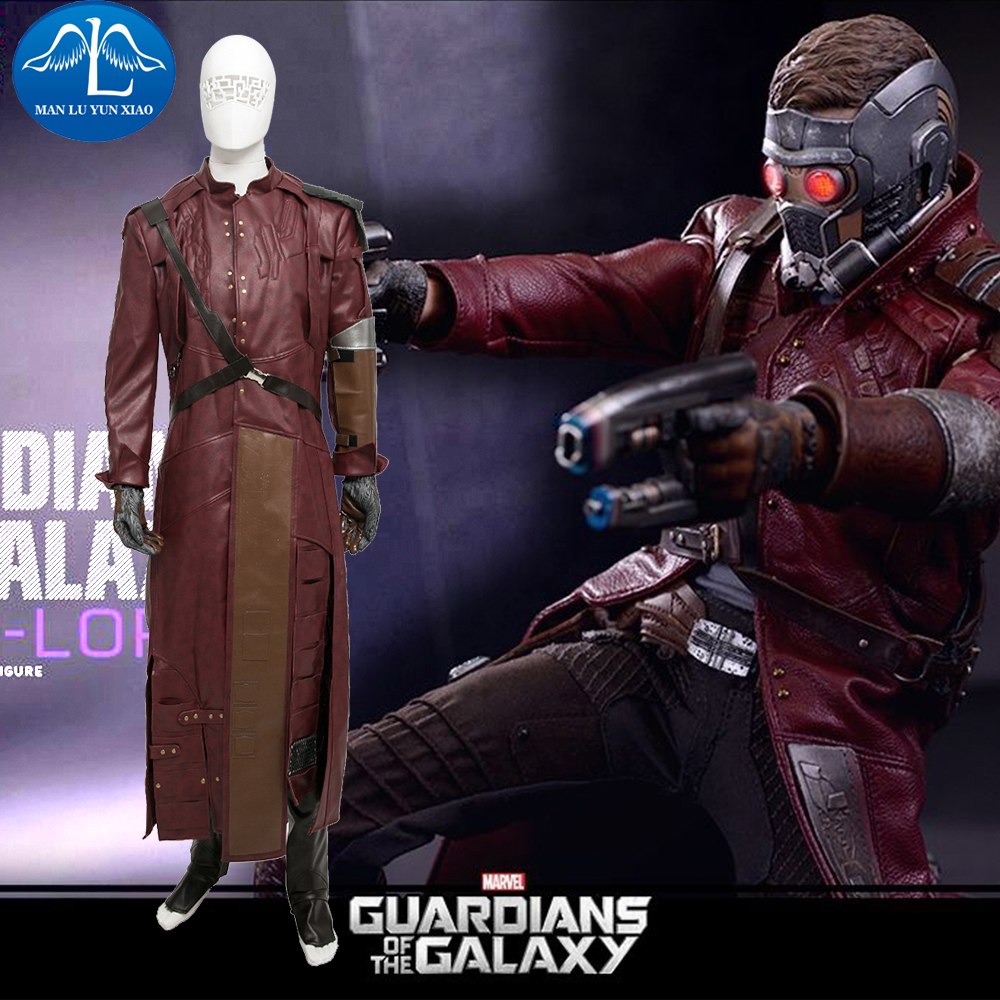 MANLUYUNXIAO Mens Costume Guardians of the Galaxy Costume Star-Lord Peter Jason Quill Cosplay Costume For Men Custom Made