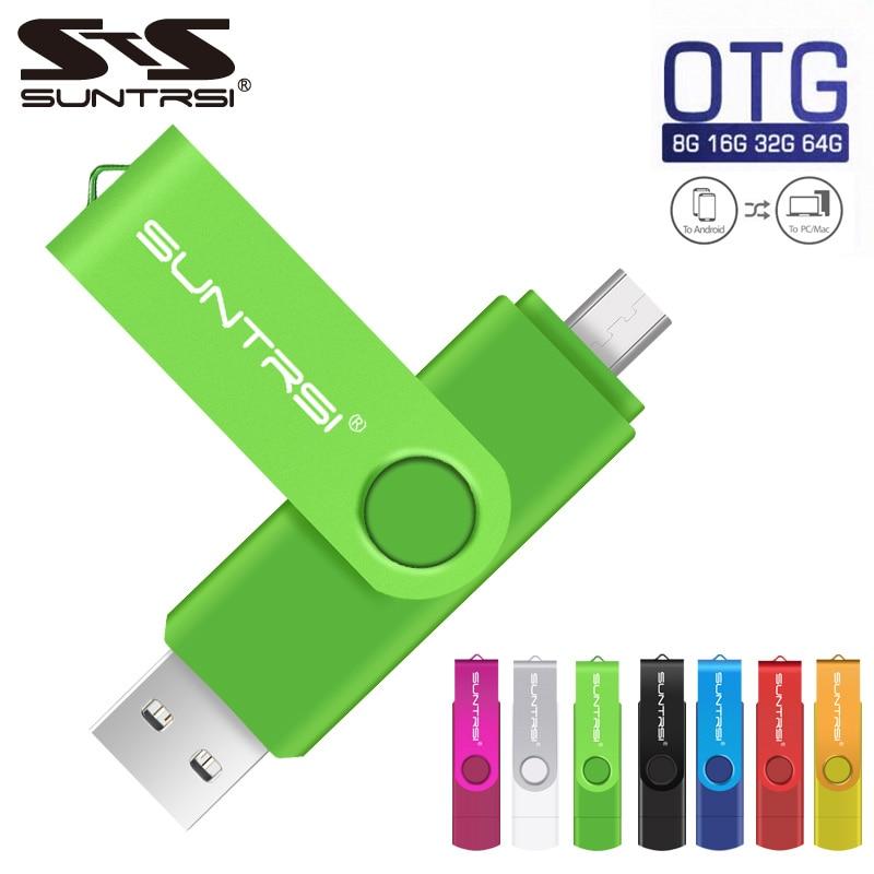 Original Suntrsi USB Flash Drive Real Capacity 4GB 8GB 16GB 32GB 64GB 2.0 USB Stick Pen Drive Memory Stick Pendrive Flash Card