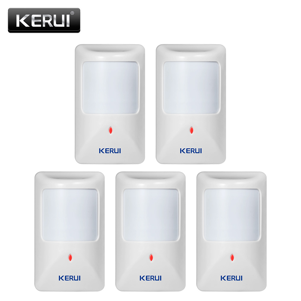 Original KERUI P812 New Wired Infrared Motion Sensor Alarm Detector for GSM Security Burglar Alarm Wired Zones Home alarm system new coming small size portable infrared breast detector for women self exam