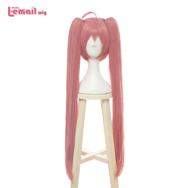 L email wig Tensei shitara Slime Datta Ken Cosplay Wigs Milim Nava Wig 90cm Pink Synthetic