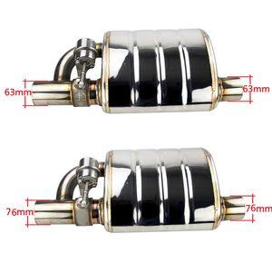 """Image 5 - Stal nierdzewna 2.5 """"lub 3"""" pochylona końcówka wylotowa wlotowa spoina na pojedynczym tłumiku wydechowym z różnymi dźwiękami/zawór zrzutowy redukcja spalin"""