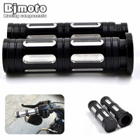 1 25mm Black Aluminum CNC Deep Cut Handle Bar Hand Grips For Harley Sportster Touring Dyna
