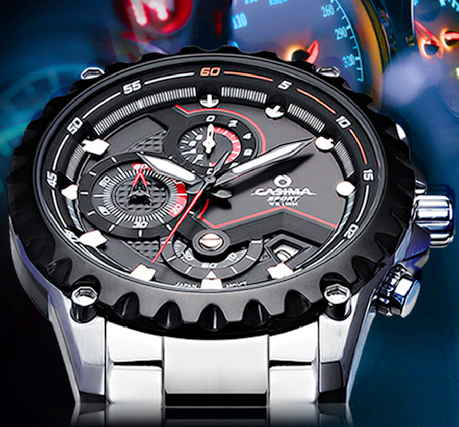 Relogio Masculino CASIMA Luxury brand DZ watches men Multi-function Sport mens Quartz watch waterproof 100m Horloges Mannen