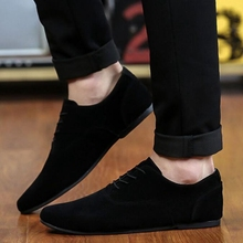 Men Shoes Nice New Suede Leather Flat Men Fashion Casual Shoes Solid Male Footwear For Men Zapatos Hombre P111