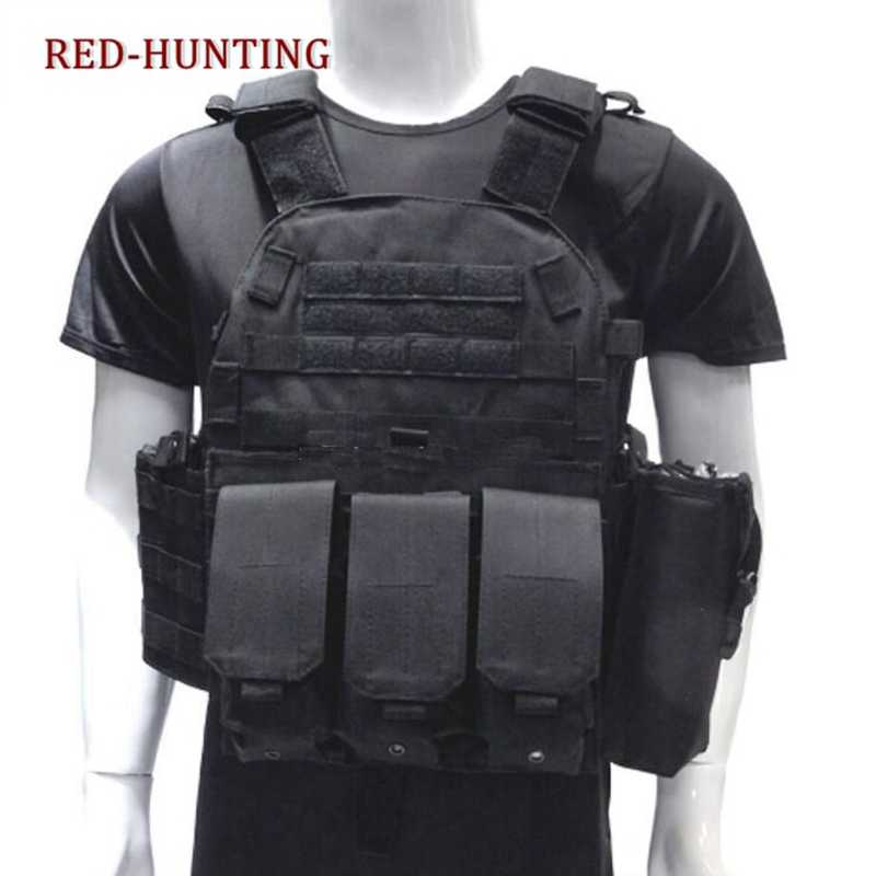 Tactical Body Armor Plate Carrier Vest Ammo Magazine Chest Rig Airsoft Paintball Gear Loading Bear Vest