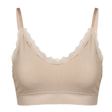 Women Active Bra Lace Wrapped Chest Beauty Back Anti-light Hanging Pad Thread Cotton 2019 New Arrival bh grote maat