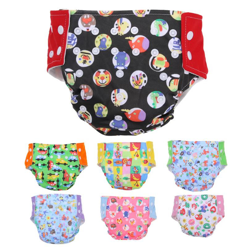 2018 Cartoon Rainbow Baby Washable Cloth Nappy Reusable Pocket Diaper Covers Adjustable Reusable for 9-15KG