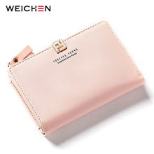 WEICHEN Fahion Women Standard Wallets Leather Female Small Wallet Ladies Clutch Brand Designer Card Holder Coin Purses Bolsas(China)