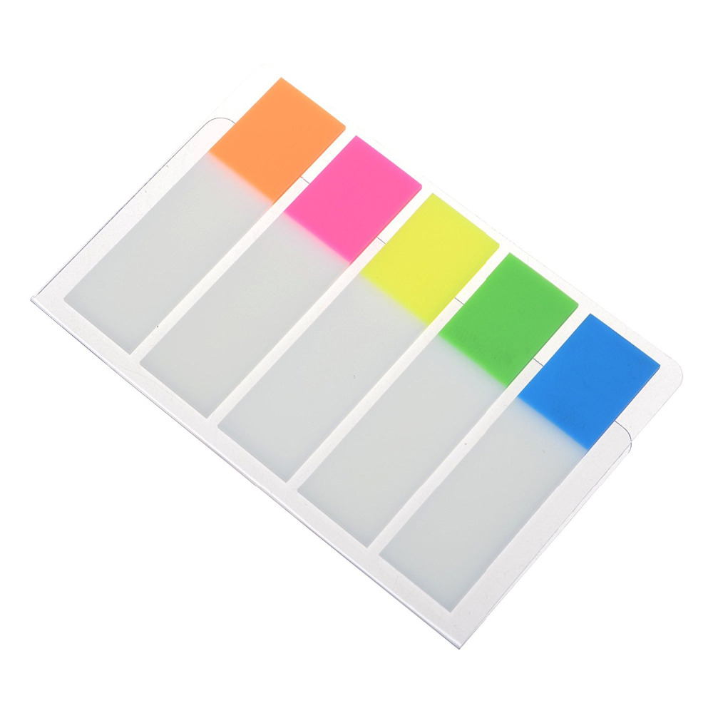 XRHYY 5 Color Reusable Divider Sticky Notes Index Tabs, 20pcs per Color|index tabs|sticky notessticky tabs - AliExpress